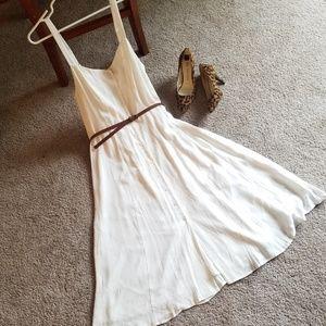 F21 Contemporary White midi dress